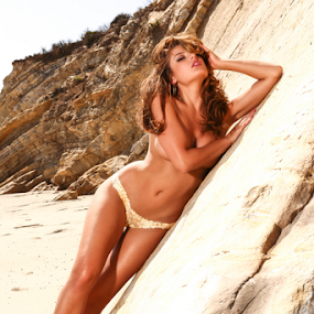 Gold leaf body paint by Chris Hughes - Nudes & Boudoir Artistic Nude ( model, implied, beach, gold, bodypaint )