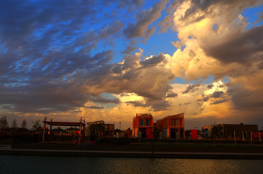 Sky Show by Leigh Martin - Landscapes Cloud Formations ( storm evening clouds,  )