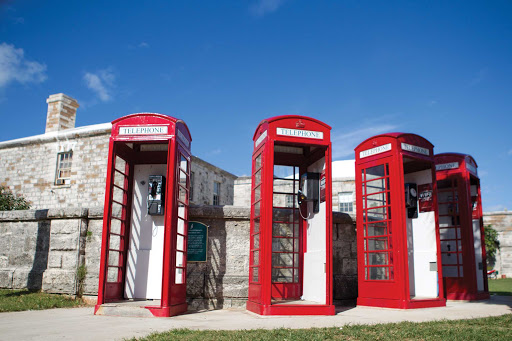 phone-booths-Bermuda - Some traditions and quaint throwbacks endure: British phone booths in Bermuda.