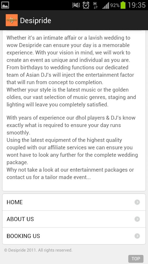 Desipride Entertainment- screenshot