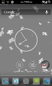 Torn Paper Grey Apex/ADW Theme screenshot 0