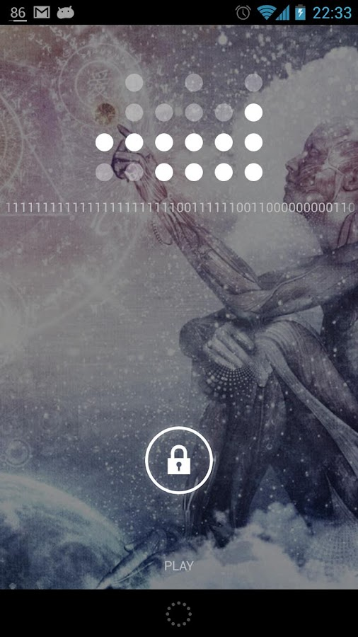 Pretty Binary Clock Widget - screenshot