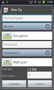 Easy Unrar Unzip & zip (noads) - screenshot thumbnail