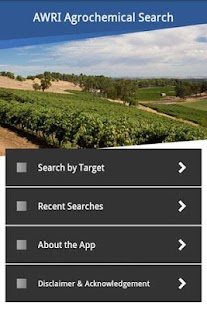 AWRI Agrochemical Search- screenshot thumbnail