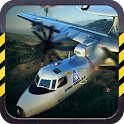 3D Army plane flight simulator icon