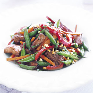 Pork Stir-Fry with Green Beans and Peanuts.
