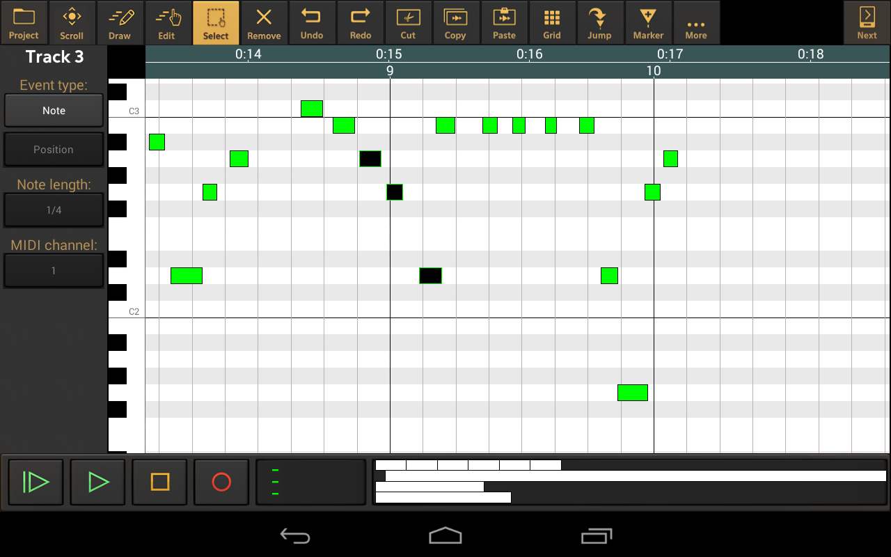 Audio Evolution Mobile DEMO - screenshot