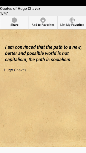 Quotes of Hugo Chavez