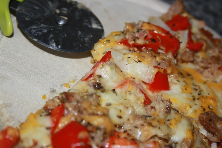 Gluten Free Vegetable and Tuna Pizza