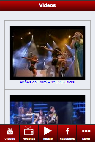 Aviões do Forró: Songs- Videos - screenshot
