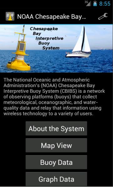 NOAA Smart Buoys - screenshot