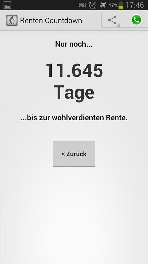 Countdown Arbeitstage App