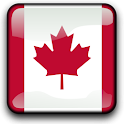 Canada Flag Clock Widget icon