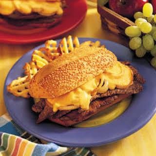 Cheddar Cheese Steak Sandwiches.