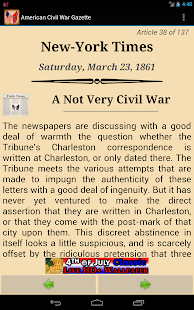 1861 Mar Am Civil War Gazette - screenshot thumbnail