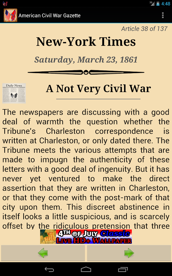 1861 Mar Am Civil War Gazette - screenshot