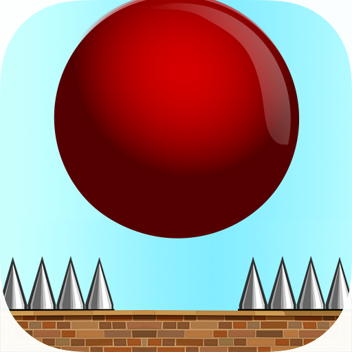 Crazy Red Bouncy Ball Spikes