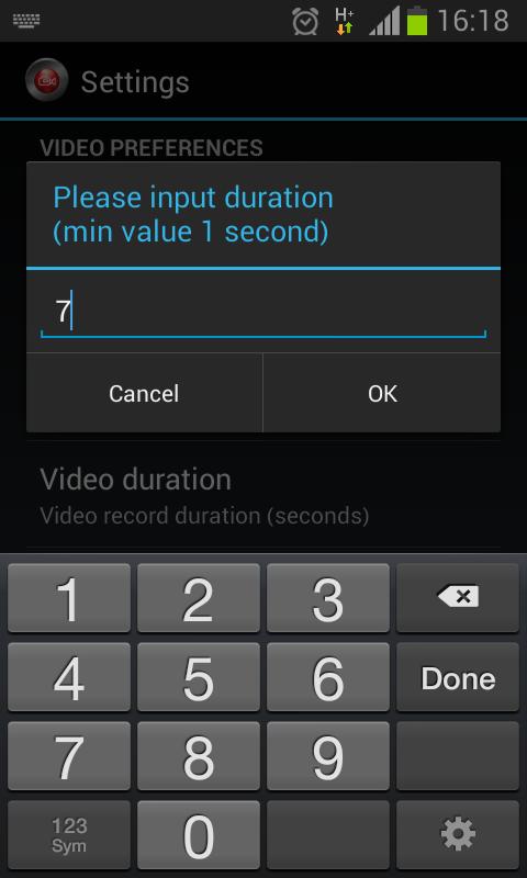 Secret Video Recorder Free - screenshot