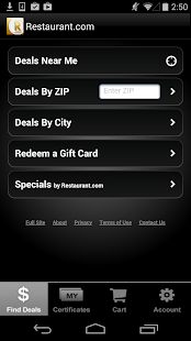 Restaurant.com- screenshot thumbnail