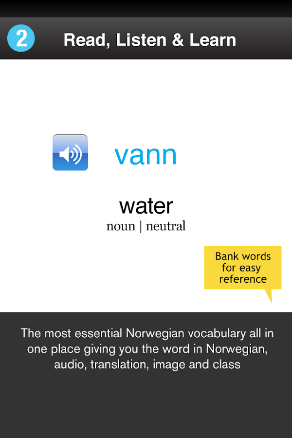 Learn Norwegian WordPower- screenshot