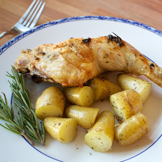 Spatchcock Roast Chicken with Rosemary