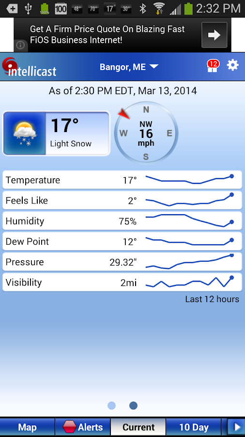 Intellicast Weather - screenshot