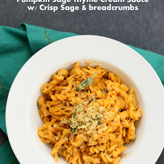 Pumpkin Sage Pasta with Crispy Sage.