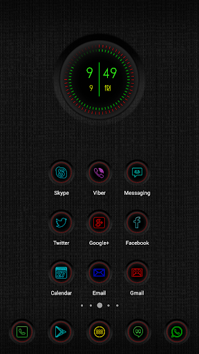 Neon Clock Widgets for Zooper