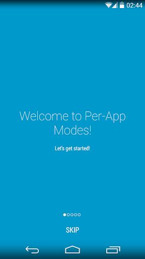 Per-App Modes