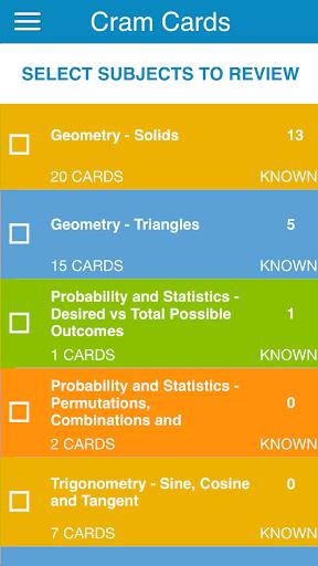 PCAT Math Flashcards