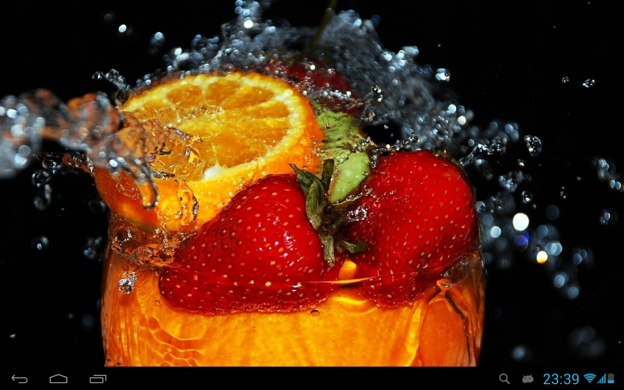 Fruits In Water Live Wallpaper Android Apps On Google Play