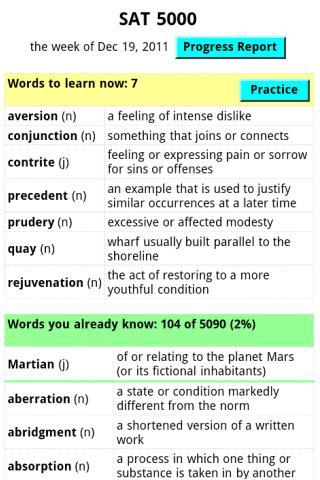 A+ ITestYou: SAT Vocabulary $- screenshot