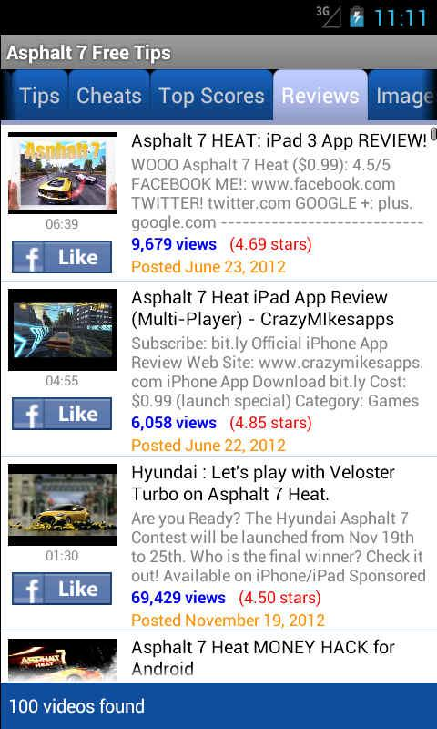 Asphalt 7 Free Tips - screenshot