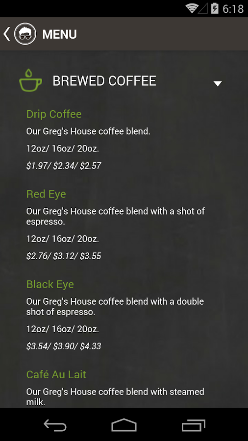 Gregorys Coffee - screenshot