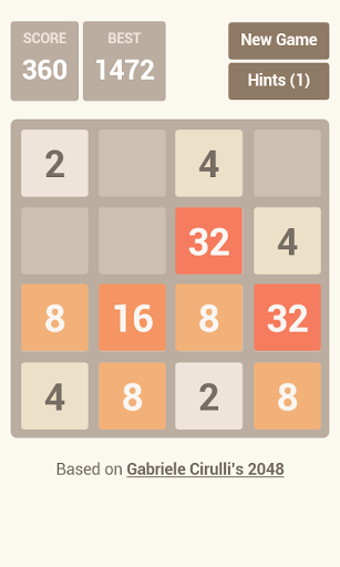 2048 with HINTS