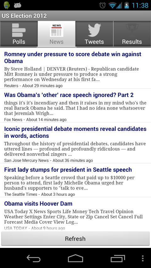 US 2012 Presidential Election - screenshot