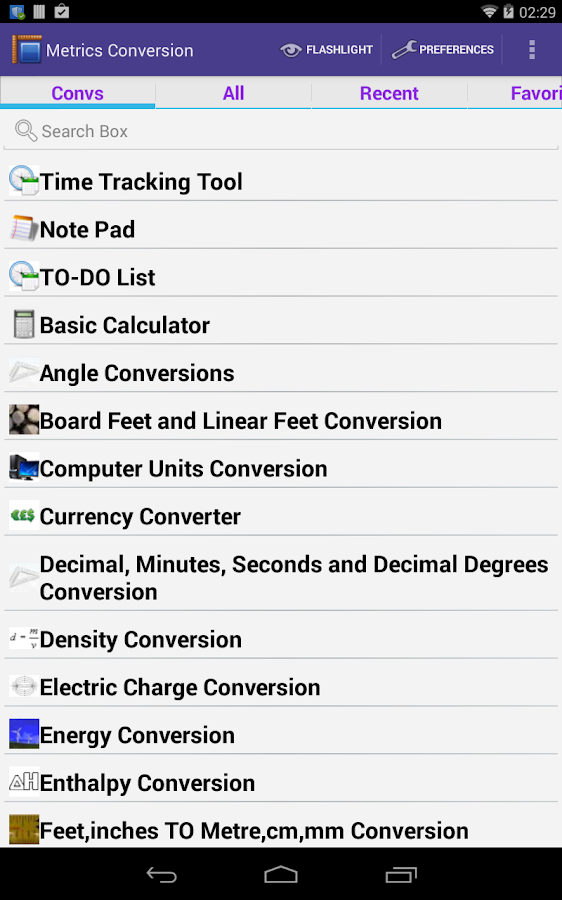 Metric Unit Converter- screenshot