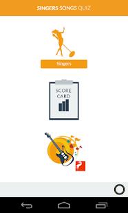 Singers Quiz Game screenshot