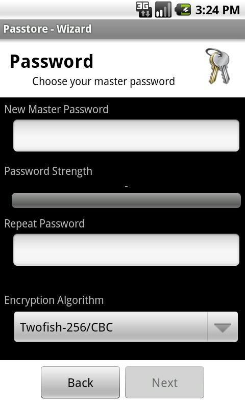 Passtore (Password Manager)- screenshot
