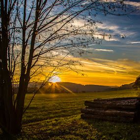 by Ralf  Harimau - Landscapes Sunsets & Sunrises ( saarland, sonnenuntergang, felder, deutschland, gangolf, mettlach, 2014, sunset, germany, fields, relax, tranquil, relaxing, tranquility,  )