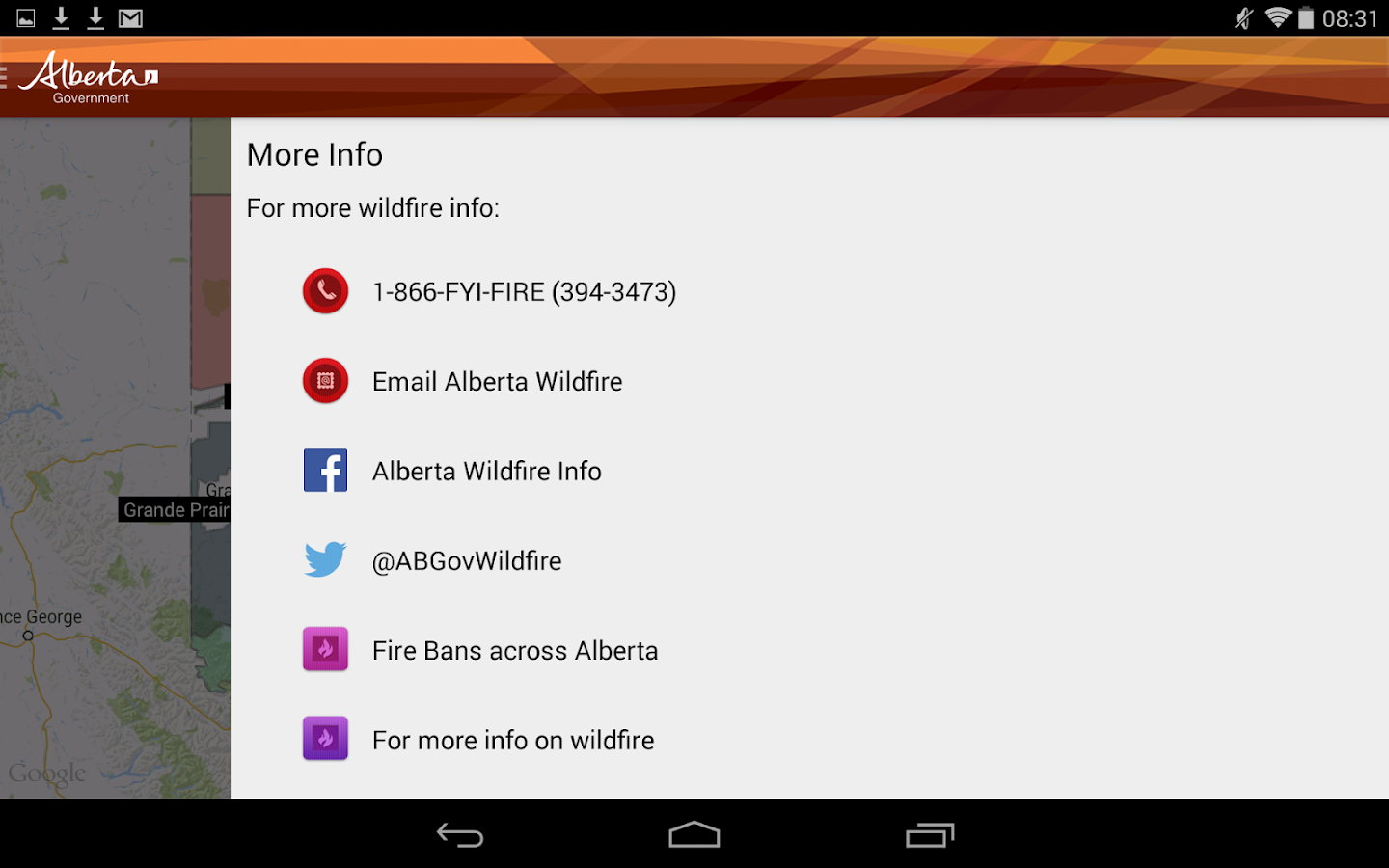 Alberta Wildfire- screenshot