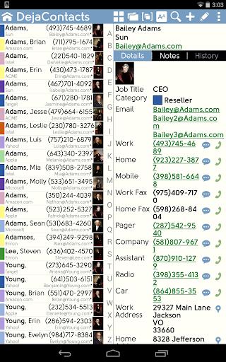 DejaOffice Outlook USB sync screenshot