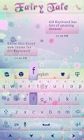 Screenshot of Fairy Tale Go Keyboard Theme