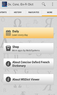 Concise Oxford French Dict - screenshot thumbnail