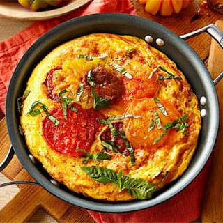 Heirloom Tomato, Ham and Fontina Frittata