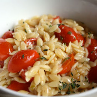 Orzo with Cherry Tomatoes, Capers, and Lemon