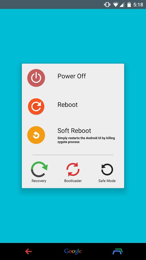 Material Power Menu completa o Power Menu do Android Lollipop 1