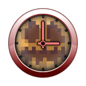 Clock Widget - Minecraft theme