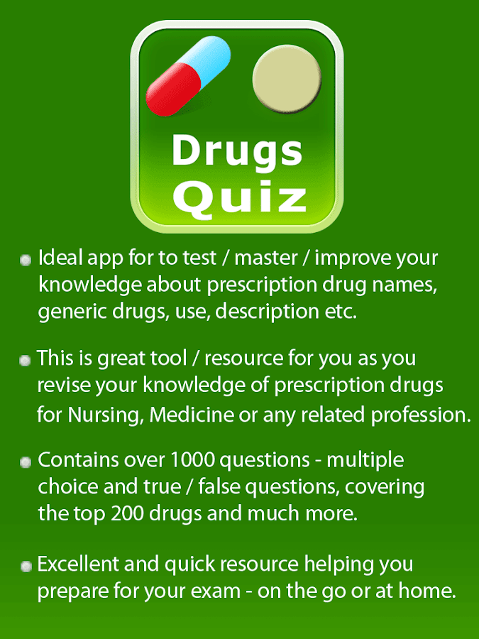 Medication Drugs Quiz- screenshot