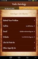 Screenshot of Vedic Astrology